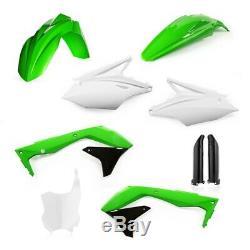 Acerbis Kawasaki Full Plastic Kit OEM Green White KXF 450 2018