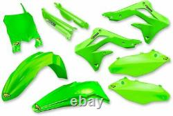 Cycra Powerflow Plastics Plastikkit Kawasaki Kxf 450 13-15 Oem Grün Green