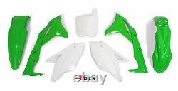 Green White OEM Plastic Fits Kawasaki KXF250 2017 2018 2019