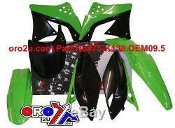 KAWASAKI KXF250 PLASTIC KIT oem colours 2009 2010 2011 2012 RACETECH MOTOCROSS