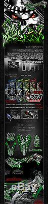 Kawasaki 2004-2018 KXF250 War Machine Graphique Drapé Décalque pour OEM