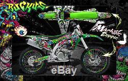 Kawasaki 2004-2018 Kxf250 Ruckus Graphics Wrap Decal Kit Fits Oem Parts Kx250f