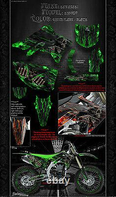 Kawasaki 2006-2017 Kxf450 Hell Ride Graphics Wrap Decal Kit Fits Oem Parts