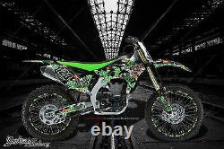 Kawasaki 2006-2019 Kxf450 Lucky Graphics Wrap Decal Kit Fits Oem Parts