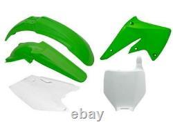 Kawasaki KX 250 F / KXF 250 2004 2005 OEM Racetech Plastic Kit GREEN / WHITE