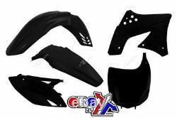 Kawasaki KX 250 F / KXF 250 2009 2012 OEM Racetech Plastic Kit BLACK