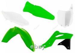 Kawasaki KX 250 F / KXF 250 2013 2016 OEM Racetech Plastic Kit GREEN / WHITE