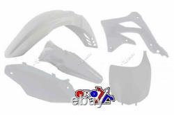 Kawasaki KX 450 F / KXF 450 2012 OEM Racetech Plastic Kit WHITE