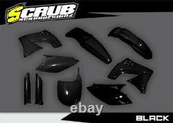 Kawasaki KX250F 2009-2012 KXF Black/Green/White/OEM Motocross Plastic Body Kit