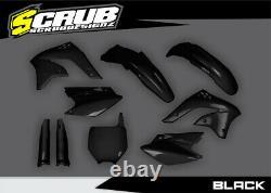 Kawasaki KX450F 2006-2008 KXF Black/Green/White/OEM Motocross Plastic Body Kit