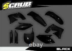 Kawasaki KX450F 2009-2011 KXF Black/Green/White/OEM Motocross Plastic Body Kit