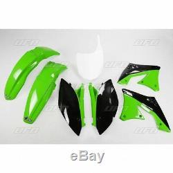 Kawasaki KXF 250 2010 2011 UFO Plastic Kit OEM Green White Black