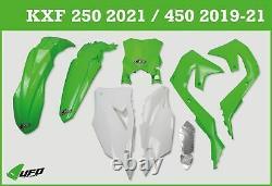 Kawasaki KXF 250 2021 UFO Plastic Kit With Stadium Front Number Plate OEM