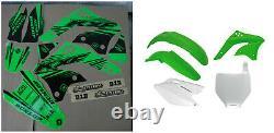 Kawasaki KXF 450 06 07 08 FLU PTS5 Graphics Sticker Plastic Kit Plastics OEM