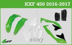 Kawasaki KXF 450 2016 2017 UFO Motocross Plastic Kit OEM & Radiator Louvers