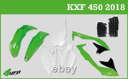 Kawasaki KXF 450 2018 UFO Motocross Plastic Kit & Radiator Louvers OEM