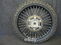 Kawasaki KXF250 KXF450 2006-2018 Used genuine oem 21 Black front wheel kx2851