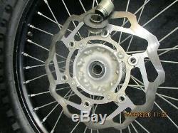 Kawasaki KXF450 2006-2020 Used genuine oem 19 + 21 Black wheel set KX3282