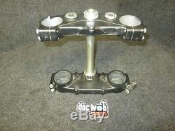 Kawasaki KXF450 2015 Used genuine oem upper + lower triple clamp assembly KX2675