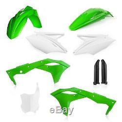 Kawasaki Kxf250 2020 Acerbis Full Plastic Kit Oem Green White