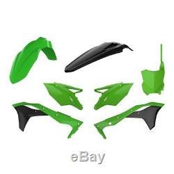 Kawasaki Kxf450 16-18 Polisport Plastic Kit Oem Green Black