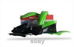 Kawasaki Plastic Kit KXF 250 2009 2012 OEM Green Black Motocross 90463