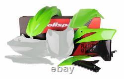 Kawasaki Plastic Kit KXF 250 2013 2016 OEM 16 Green 90695 Polisport Motocross