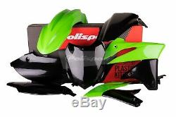 Kawasaki Plastic Kit KXF 250 2013 2016 OEM Green Black Motocross 90542