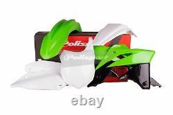 Kawasaki Plastic Kit KXF 250 2013 2016 OEM Green White Motocross 90625