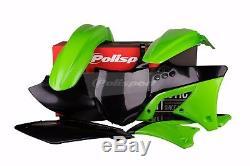 Kawasaki plastic kit KXF 250 2009 2012 OEM Green Black Motocross MX 90463