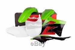 Kawasaki plastic kit KXF 450 2012 OEM Green White Motocross MX 90466