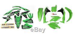 New KXF 250 17 18 19 PTS4 Graphics Sticker Plastic Kit Green Plastics KXF250