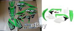 New KXF 450 16 17 18 PTS4 Graphics Sticker Plastic Kit Green Plastics KXF450