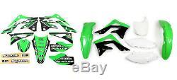 New KXF 450 2012 12 PTS4 Graphics Sticker Plastic Kit Green Plastics KXF450