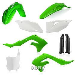 New KXF KX 450 19 20 21 KXF 250 2021 OEM Green White Black Acerbis Plastic Kit
