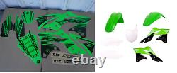 New Kawasaki KXF 250 13 14 15 16 FLU PTS5 Graphics Sticker Plastic Kit Plastics