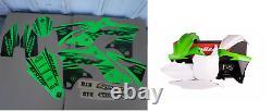 New Kawasaki KXF 450 13 14 15 FLU PTS5 Graphics Sticker Plastic Kit Plastics