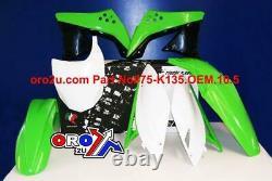 New Racetech Plastic Kit Kawasaki KXF 450 09 10 11 Plastics OEM Motocross Enduro