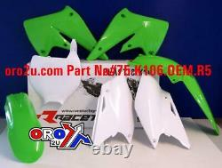 New Rtech Plastic Kit Kawasaki KXF 250 04-05 Plastics OEM Motocross Enduro