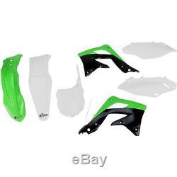 Plastiksatz Plastikkit inkl. Nummerntafel Kawasaki KXF 450 KX-F OEM 2013-2015 14