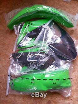 Plastiksatz Plastikkit inkl. Nummerntafel Kawasaki KXF KX-F 250 OEM 2009-2012