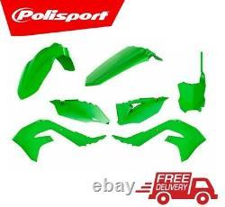 Polisport Plastic Kit Kawasaki KXF450 2019-2020 PLASTIC BOX KIT ALL GREEN OEM 20