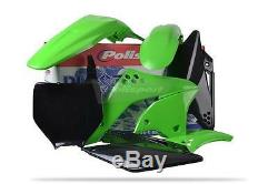 Polisport Plastic Kit for Kawasaki KXF 250 2006 2008 OEM 08 Green Black 90113