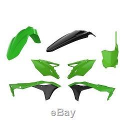 Polisport Plastics Kit OEM Green Kawasaki KXF 250 2017 2018 2019 2020
