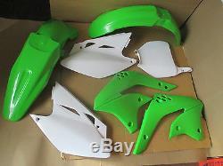 R Tech Kawasaki Plastic Kit Kxf450 Kx450f Fenders Shrouds 2006 2007 2008