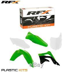 RFX Plastic Kit Kawasaki (OEM) KX 450F KXF 450 2013 2014 2015 Green White Black