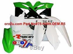 Racetech Kawasaki Kxf250 Oem14 Green Plastic Kit 13-16 With Number Board