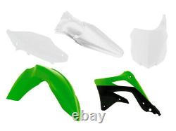 Racetech Plástico Conjunto Kit Juego Kawasaki Kxf 450 2009-2011 OEM Verde Blanco