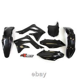 Racetech Plastics kit OEM BLACK. KAWASAKI KXF450 2013 2015