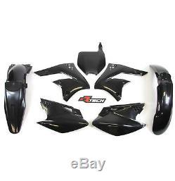 Racetech Plastics kit OEM BLACK. KAWASAKI kxf250 2006 2008